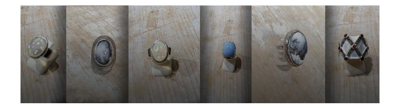 Bague en argent 925 avec Nacre - bague opale - bague agate dendritique - bague opale pailletée