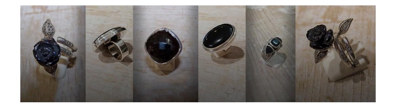 Bague onyx et bague spinelle en argent 925 - bagues à la pierre fine noire ou noire et blanche