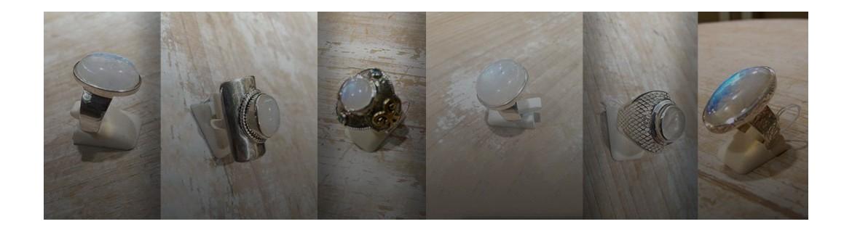Bague à pierre de lune en argent 925 - pierre de lune navette - jonc pierre de lune - cabochon pierre de lune