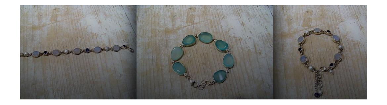 Bracelet calcédoine - bracelet calcédoines  en argent 925