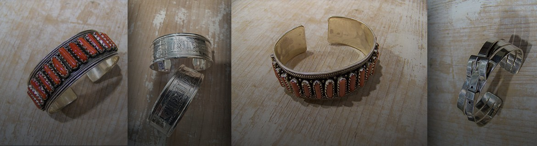 Bracelet en nacre - bracelet corail - en Argent 925 - manchette avec de la nacre