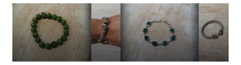 Bracelet péridot - bracelets jade - bracelet topaze verte - pierres fines verte sur Argent 925