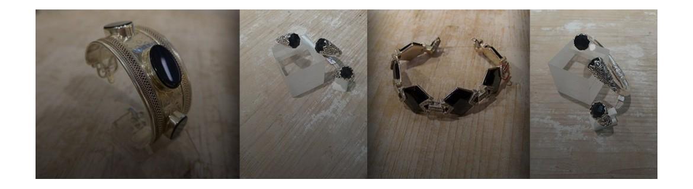 Bracelet Larimar et cyanite
