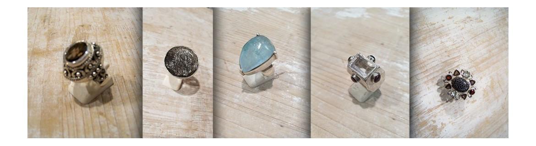 Bagues en argent 925 - Bagues à pierre fine - Bagues à pierres fines - bagues serti clos - bagues rétro