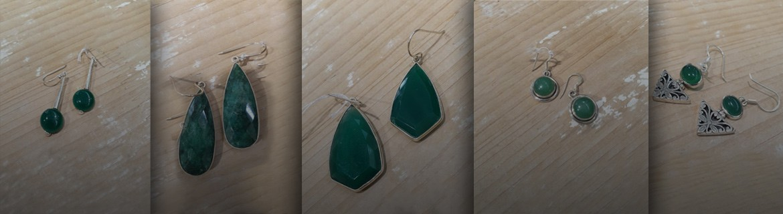 Boucles d'oreilles Péridot - boucle d'oreille Agate verte - Boucle d'oreilles Topaze - Pierres fines vertes