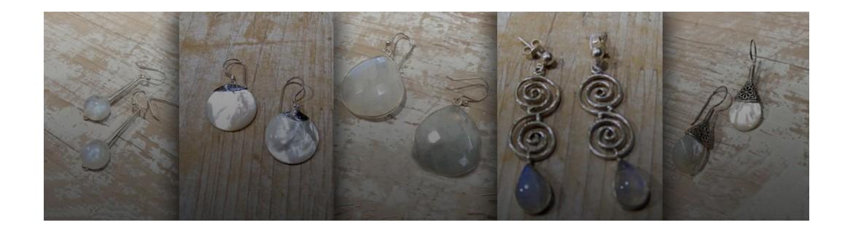Boucles d'oreilles Pierre de Lune & Nacre