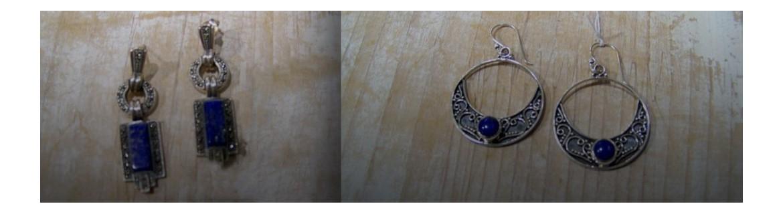 Boucles d'oreilles Lapis Lazuli Turquoise