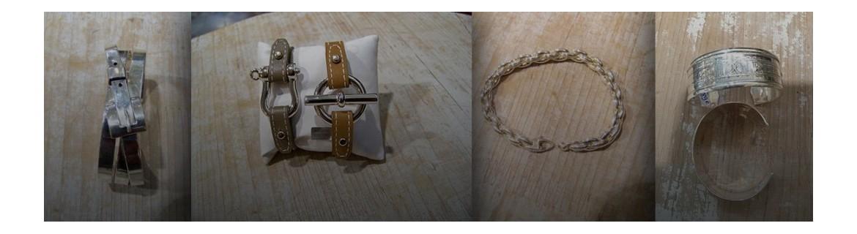 Bracelet en argent 925 - bracelet en argent 925 à pierres fines - bracelets ethniques Touareg - bracelets rétro - bracelet jonc en argent - manchette en argent