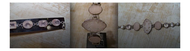 Bracelets à quartz rose en argent 925 - bracelet multipierres en quartz rose